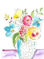 Flower Burst Vase I Fine Art Print
