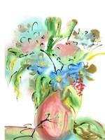 Flower Burst Vase II Fine Art Print