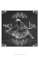 """Chalkboard Bird II by June Erica Vess - 13"""" x 19"""""""