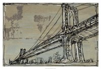 "Kinetic City Sketch II by Ethan Harper - 38"" x 26"", FulcrumGallery.com brand"