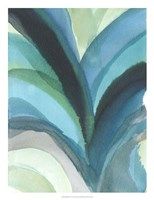 "Big Blue Leaf I by Jodi Fuchs - 19"" x 25"""