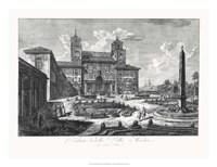Veduta della Villa Medici Fine Art Print