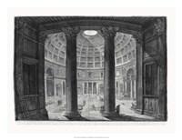 "Veduta interna del Pantheon by Francesco Piranesi - 26"" x 20"""