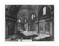 """Veduta interna della Chiesa della Madonna by Francesco Piranesi - 26"""" x 20"""""""