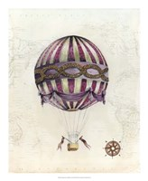 Vintage Hot Air Balloons I Framed Print