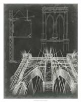 Iconic Blueprint IV Framed Print