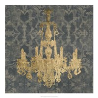 "Gilt Chandelier II by Jennifer Goldberger - 20"" x 20"""