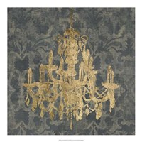 "Gilt Chandelier III by Jennifer Goldberger - 20"" x 20"""