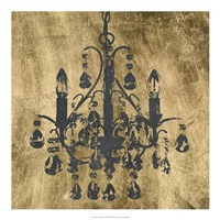"Gilt Chandelier V by Jennifer Goldberger - 20"" x 20"""