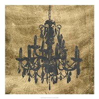 Gilt Chandelier VII Fine Art Print