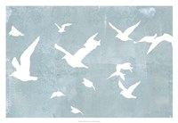"Silhouettes in Flight I by Jennifer Goldberger - 32"" x 22"""