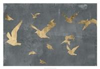 """Silhouettes in Flight III by Jennifer Goldberger - 32"""" x 22"""""""