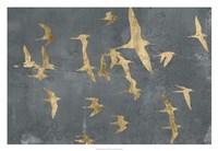 "Silhouettes in Flight IV by Jennifer Goldberger - 32"" x 22"""