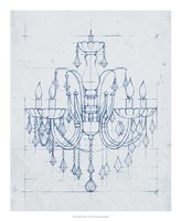 "Chandelier Draft I by Ethan Harper - 18"" x 22"""