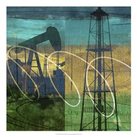 Oil Rig & Oil Well Collage Fine Art Print
