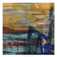 "Oil Rig Abstract by Sisa Jasper - 22"" x 22"""