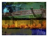 "Ft. Worth Collage by Sisa Jasper - 26"" x 20"""