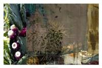 "Texas Cactus Collage by Sisa Jasper - 30"" x 20"" - $40.49"