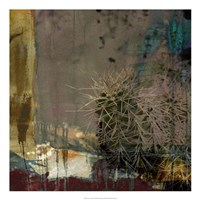"Cactus Abstract by Sisa Jasper - 22"" x 22"""