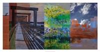 Fort Worth Collage I Framed Print