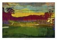 Golf Abstract I Framed Print
