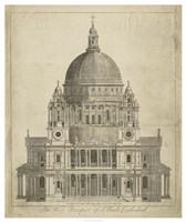 """St. Paul's Cathedral - 42"""" x 50"""", FulcrumGallery.com brand"""