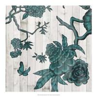 Terra Verde Chinoiserie III Framed Print
