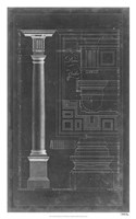 Doric Order Blueprint Fine Art Print