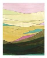 Pink Hills I Framed Print