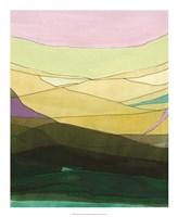 Pink Hills II Framed Print