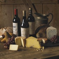 Wine And Cheese 2 Fine Art Print