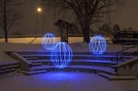 Spheres On The Steps Fine Art Print