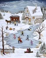Skating On Christmas Eve Fine Art Print