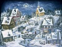A Hidden Mountain Village Fine Art Print