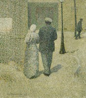 Couple In The Street, 1887 by Charles Angrand, 1887 - various sizes