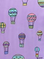 Balloons - Purple Framed Print