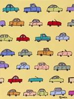 Cars - Yellow Fine Art Print