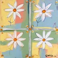 Four Daisies Framed Print