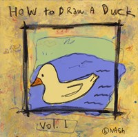 How to Draw A Duck Fine Art Print
