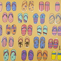 Flip Flops - Yellow Fine Art Print