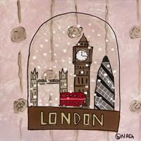 London Snow Globe Framed Print