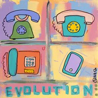 Evolution - Phone by Brian Nash - various sizes, FulcrumGallery.com brand