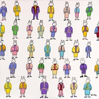Lala Is Quite Certain That One Can Never Have Enough Chic Suits by Brian Nash - various sizes, FulcrumGallery.com brand