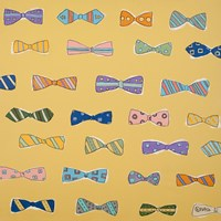 Bowties Yellow by Brian Nash - various sizes