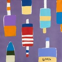 Buoys Purple by Brian Nash - various sizes