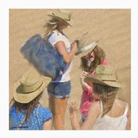 Girls on the Beach by Carlos Casamayor - various sizes, FulcrumGallery.com brand