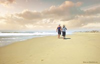 Beach Walk Fine Art Print