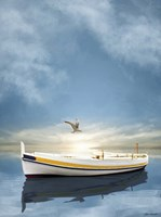The White Boat in the Sunset by Carlos Casamayor - various sizes