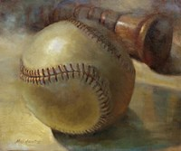 Baseball with Bat Fine Art Print