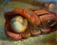 The American Dream - Baseball and Glove 9 Fine Art Print